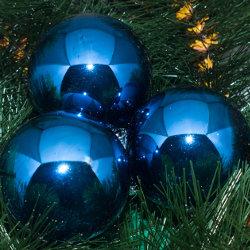 Kerstballen blauw glanzend