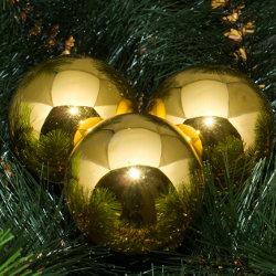 Kerstballen goud glanzend