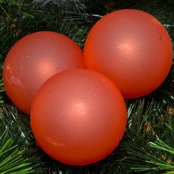 Kerstballen rood mat