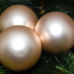 Kerstballen zilver mat