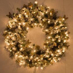 Kerstkrans met lichtjes huren